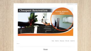 Cheapest Renovation