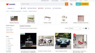 Lazada Outdoor Furniture